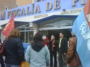 Planton exige libertad de Marcelo Rivera