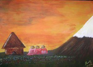 Pintura realizada por Marcelo Rivera