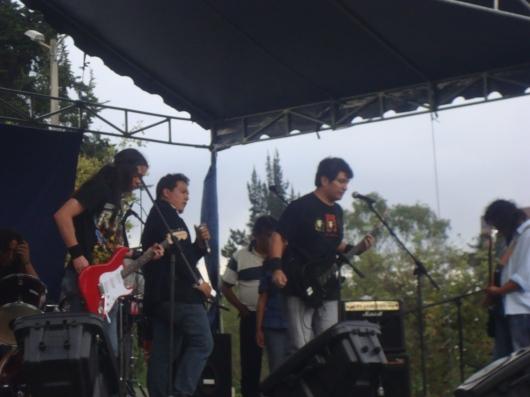 Sangre Combativa de Ibarra en concierto se solidariza con Marcelo Rivera