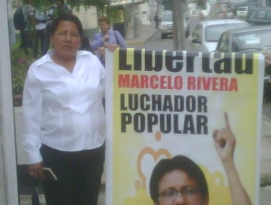 Madre de Marcelo Rivera, Norma exige su libertad