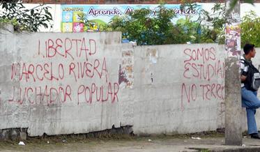 Grafitis por libertad Marcelo Rivera inundan Quito