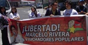 Plantón exige libertad de Marcelo Rivera