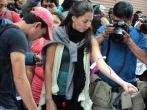 Universitariosw exigen libertad de Marcelo Rivera