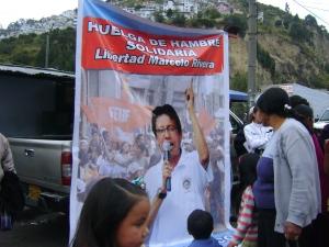 Marcelo Rivera en huelga de hambre