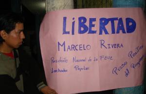 Galápagos exige libertad de Marcelo Rivera