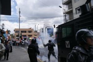 Represión en audiencia de Marcelo Rivera
