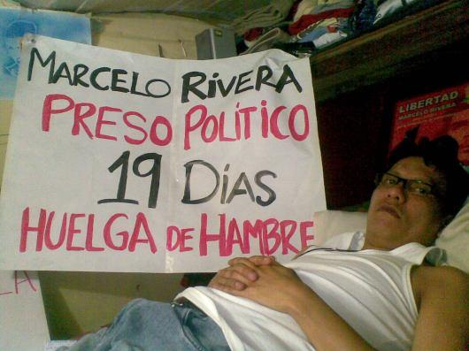 Marcelo Rivera 19 dias en huelga de hambre