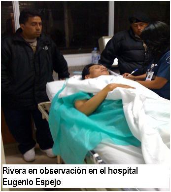 Rivera en observación en H. Eugenio Espejo