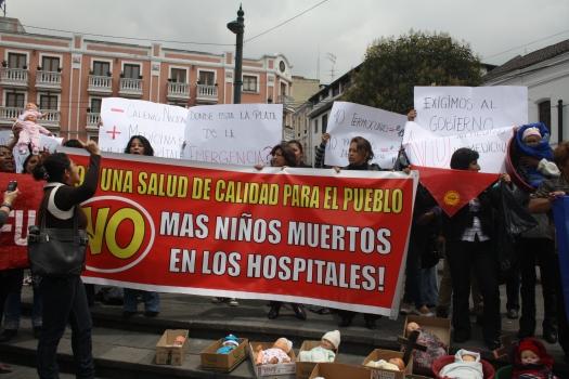 Mujeres exigen salud al gobierno